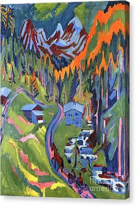 Sertig Path In Summer Canvas Print by Ernst Ludwig Kirchner