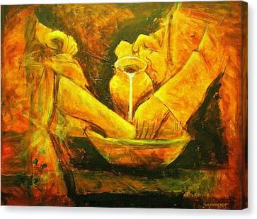 Water Jars Canvas Print - Servant Heart by Jun Jamosmos