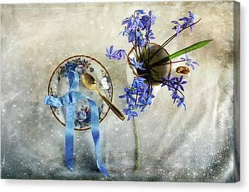 Serving You Blue Canvas Print by Randi Grace Nilsberg