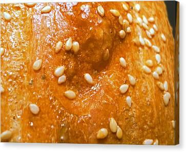 Sesame Seed Bread Crust Canvas Print by Padre Art