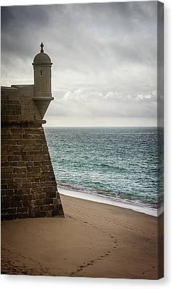 Sea Watch Canvas Print - Sesimbra Fort by Carlos Caetano
