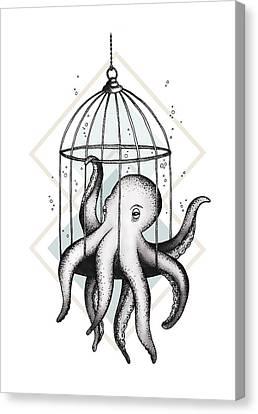 Octopus Canvas Print - Set Me Free by Barlena