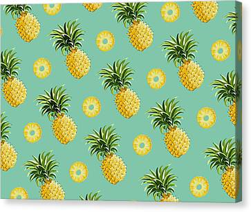 Set Of Pineapples Canvas Print by Vitor Costa