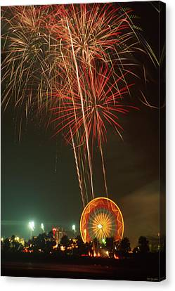 Pyrotechnic Canvas Print - Set The Night On Fire by Soli Deo Gloria Wilderness And Wildlife Photography