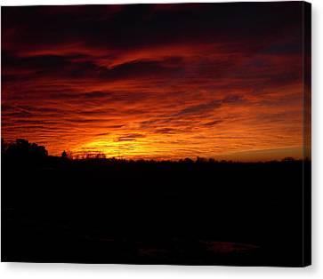 Set The Sun Canvas Print