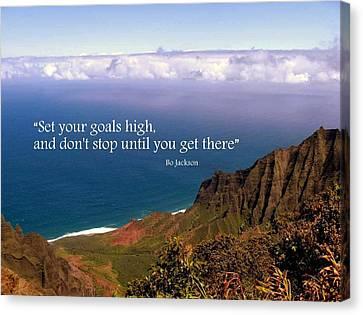 Set Your Goals High Canvas Print
