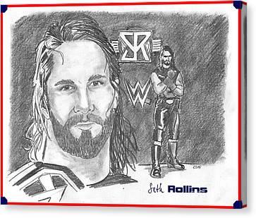 Seth Rollins Canvas Print by Chris  DelVecchio