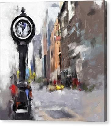 Newyork Canvas Print - Seth Thomas Clock Ny 562 1 by Mawra Tahreem