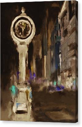 Seth Thomas Clock Ny 562 4 Canvas Print by Mawra Tahreem