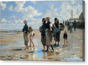 Setting Out To Fish Canvas Print by John Singer Sargent
