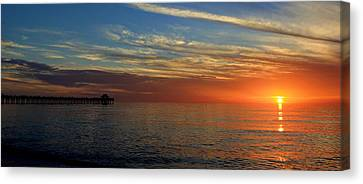 Setting Sun In Naples Canvas Print by Sean Allen