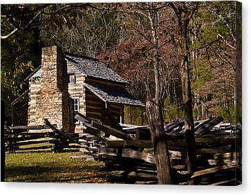 Settlers Cabin Cades Cove Canvas Print