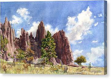 Canvas Print featuring the painting Settler's Park, Boulder, Colorado by Anne Gifford