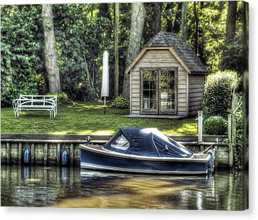 Cabin Wall Canvas Print - Settling by Wim Lanclus