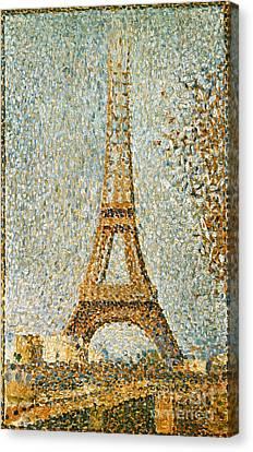 Seurat: Eiffel Tower, 1889 Canvas Print by Granger