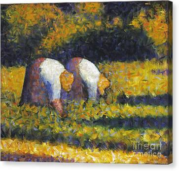 Seurat: Farm Women, C1882 Canvas Print by Granger