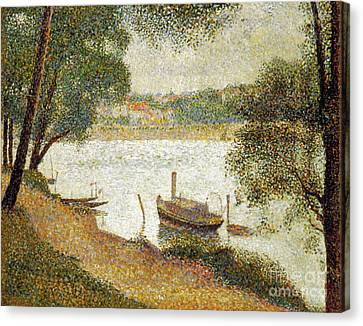 Seurat: Gray Weather Canvas Print by Granger