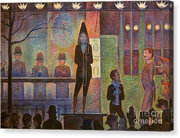 Seurat: La Parade Canvas Print by Granger