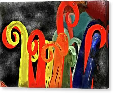 Seuss' Canes Canvas Print by Trish Tritz
