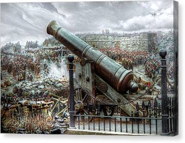 Canvas Print featuring the digital art Sevastopol Cannon 1855 by Pennie  McCracken