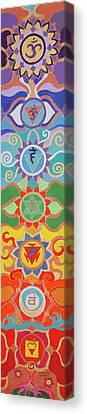 Seven Chakras Harmony Pillr Canvas Print by Sandra Petra Pintaric