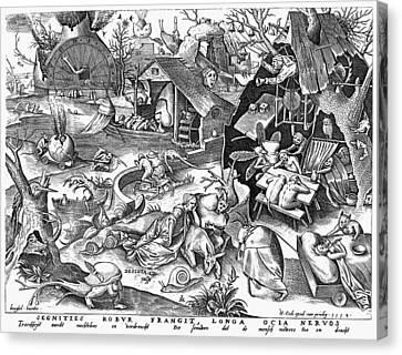 Seven Deadly Sins: Sloth Canvas Print by Granger
