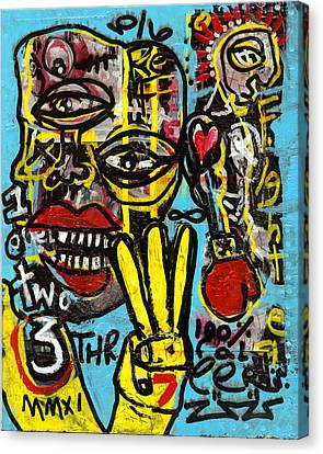 Seven Left Canvas Print by Robert Wolverton Jr