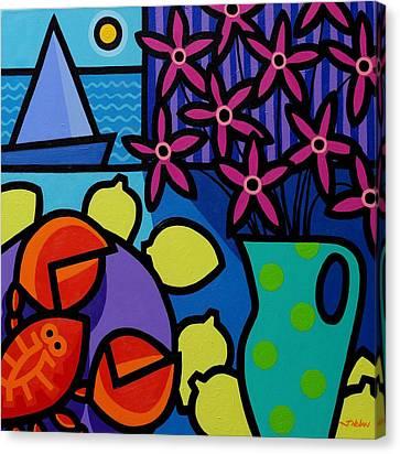 Seven Lemons Canvas Print by John  Nolan