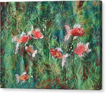 Seven Little Fishies Canvas Print by Maria Watt