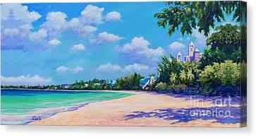 Seven Mile Beach And Ritz Carlton Canvas Print by John Clark
