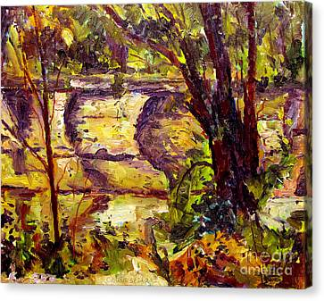 Seven Pillars In Series No.3 Framed Canvas Print by Charlie Spear