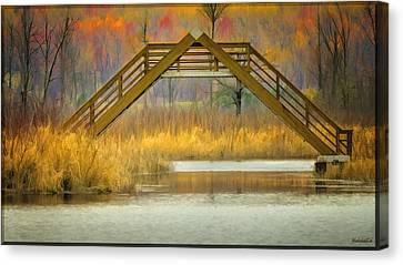 Seven Ponds A Frame Bridge Canvas Print