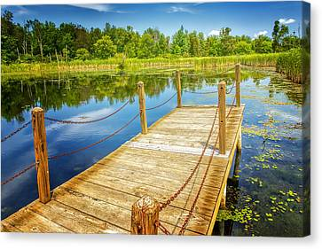 Seven Ponds Nature Center Water Fowl Refuge Dock Canvas Print