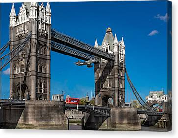 Seven Seconds - The Tower Bridge Hawker Hunter Incident  Canvas Print