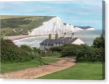 Down East Canvas Print - Seven Sisters - England by Joana Kruse