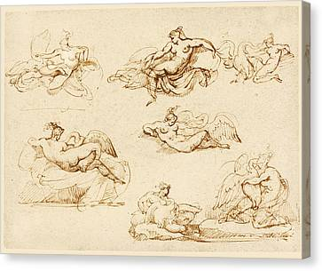 Seven Studies For Leda And The Swan Canvas Print