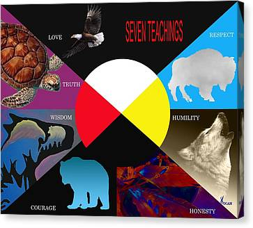 Seven Teachings Canvas Print by Will Logan