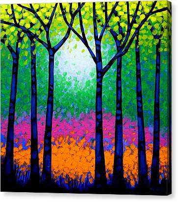Nature Poster Art Canvas Print - Seven Trees by John  Nolan