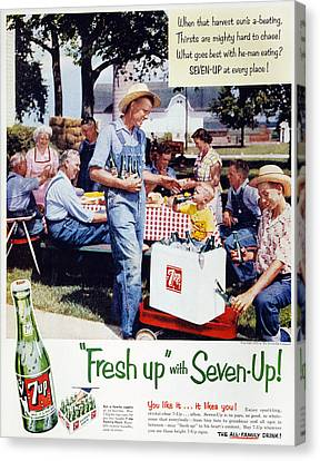 Seven-up Soda Ad, 1954 Canvas Print by Granger