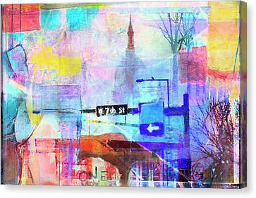 Canvas Print featuring the photograph Seventh Street by Susan Stone