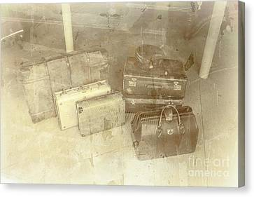 Several Vintage Bags On Floor Canvas Print by Jorgo Photography - Wall Art Gallery