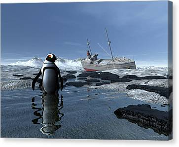 Severe Beauty Canvas Print by Sipo Liimatainen