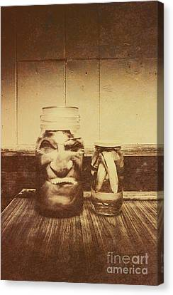 Preserves Canvas Print - Severed And Preserved Head And Hand In Jars by Jorgo Photography - Wall Art Gallery