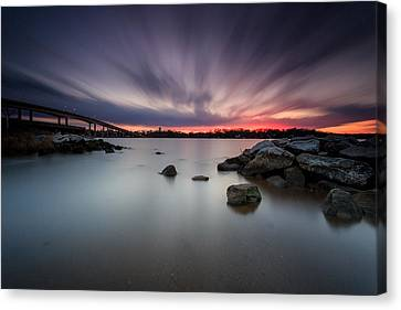 Canvas Print featuring the photograph Severn River Dusk by Jennifer Casey