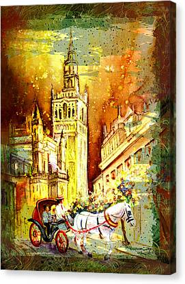 Sevilla Authentic Madness Canvas Print by Miki De Goodaboom