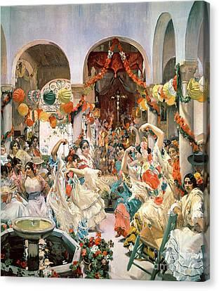 Seville Canvas Print by Joaquin Sorolla y Bastida