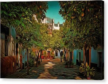 Seville Oranges Canvas Print by Anton Kalinichev