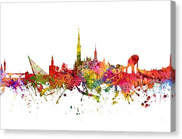 Seville Spain Cityscape 08 Canvas Print by Aged Pixel