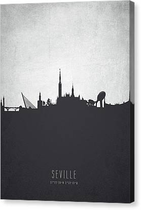 Seville Spain Cityscape 19 Canvas Print by Aged Pixel