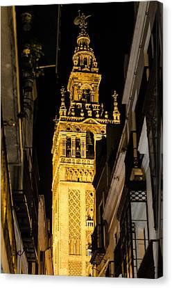 Seville - The Giralda At Night  Canvas Print